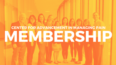 Center For Advancement in Managing Pain Membership
